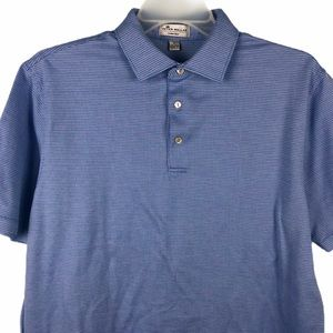 Peter Millar Crown Ease Polo Shirt Blue Mens L